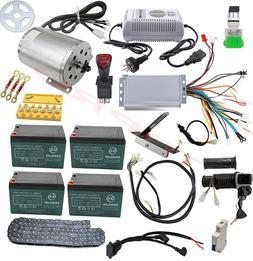 Full Kit Brushless 48v 1800w Electric Motor Speed Controller