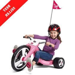 Girl Kids Big Flyer Chopper Tricycle 16 Front Wheel Adjustab