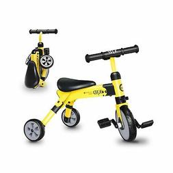 2 in 1 Kids Glide Tricycles Toddler Tricycle Baby Balance Bi