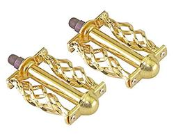 gold twisted bike pedals