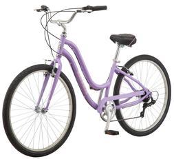"""Schwinn Hybrid Bike Purple 27.5"""" Women's Cruiser Alloy Fra"""