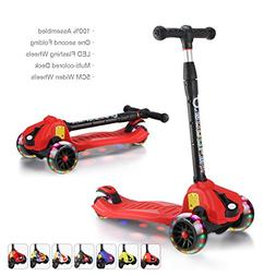 XJD Extra-Wide Wheels Kick Scooters for Kids 3 Wheels Adjust