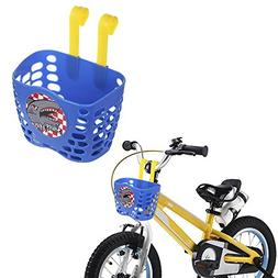 Kid's Bike Basket, Mini-Factory Cute Cartoon Shark Attax Pat
