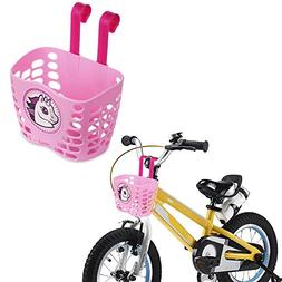 Mini-Factory Kid's Bike Basket, Cute Cartoon Unicorn Pattern