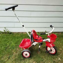 Schwinn Kids Durable Steel Frame Tricycle with Easy Push Ste