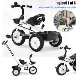 Kids Tricycle Toddler Bicycle Stroller Trike Bike +Push Hand