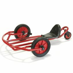 Kids Red Go-Kart Tricycle Ride On Trike Toy w/ Hand Pedals -