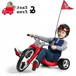 """Kids Tricycle 16"""" Front Wheel Safety Flag Adjustable Seat Ch"""