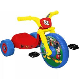 Kids Tricycle Bike Disney Mickey Mouse Fly Wheel Cruiser Red