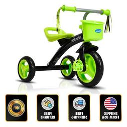 Kids Tricycle Rider Adjustable Seat Bike 2-5 Years Old Light
