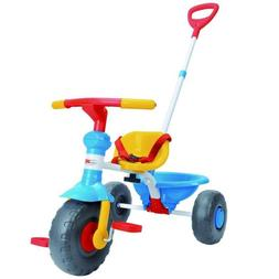 Kids' Tricycle With Pushing Handle And Grow-With Seat For 1-