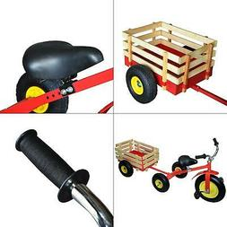 KIDS TRICYCLE With WAGON Trailer Combo All Terrain Education