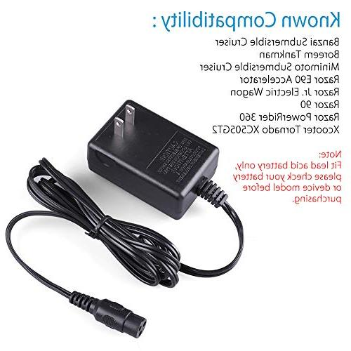 12V Scooter Charger PowerRider 360, Jr. Wagon, Liberty 312, XC505GT2, Cruiser, Replacement