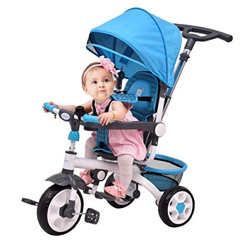 1 detachable baby stroller tricycle