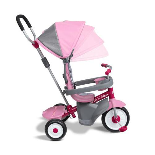 4-in-1 With Me Radio Baby Kids Girls Tricycle Ride