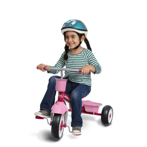 4-in-1 Grow Kids Girls Tricycle Ride