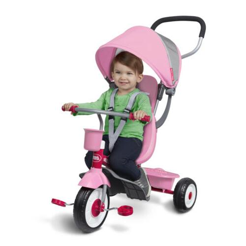 4-in-1 Radio Flyer Baby Kids Girls Tricycle Bicycle Ride