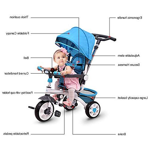 Costzon 4-in-1 Tricycle Steer w/Canopy