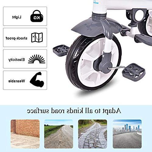 Costzon 4-in-1 Steer Toy Bike w/Canopy Basket
