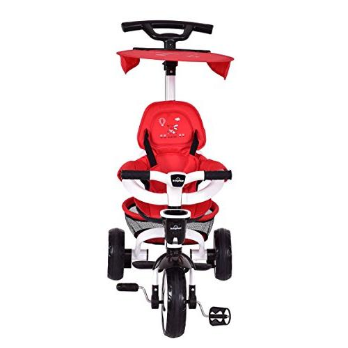 Twins Kids Trike Baby Toddler Safety Double Rotatable Seat