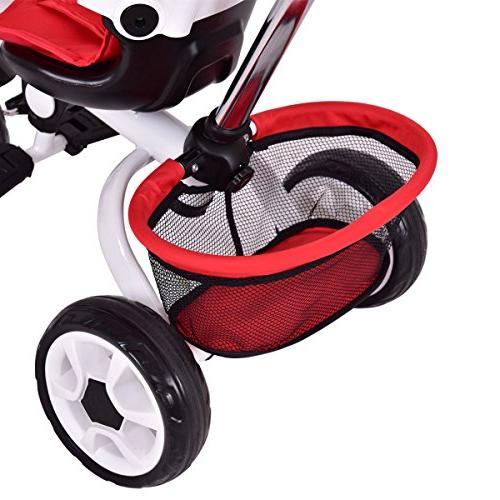 Costzon 4 Twins Toddler Tricycle Safety Rotatable Seat w/Basket