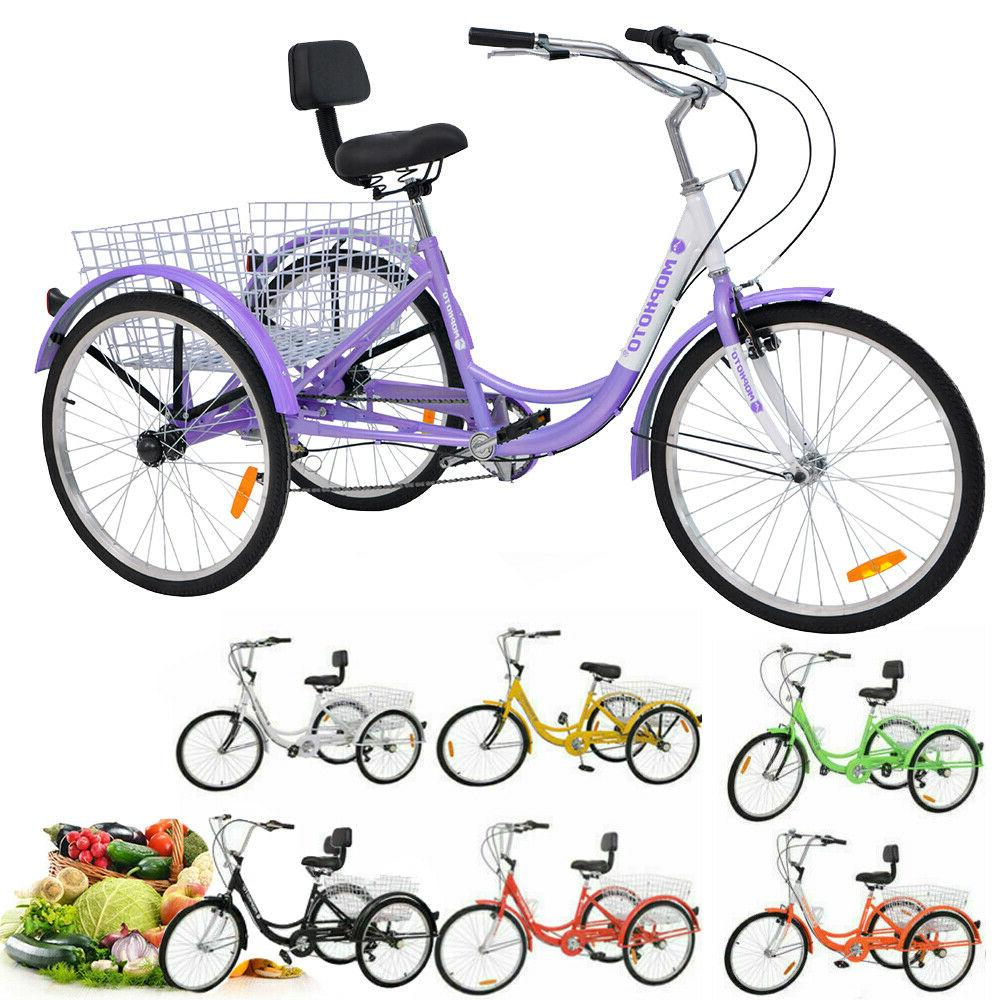 16/20/24/26'' Unisex Adult 3 Bicycle with
