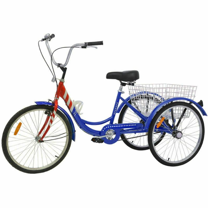 16/20/24/26'' 1/7 Adult Tricycle Bicycle Trike with