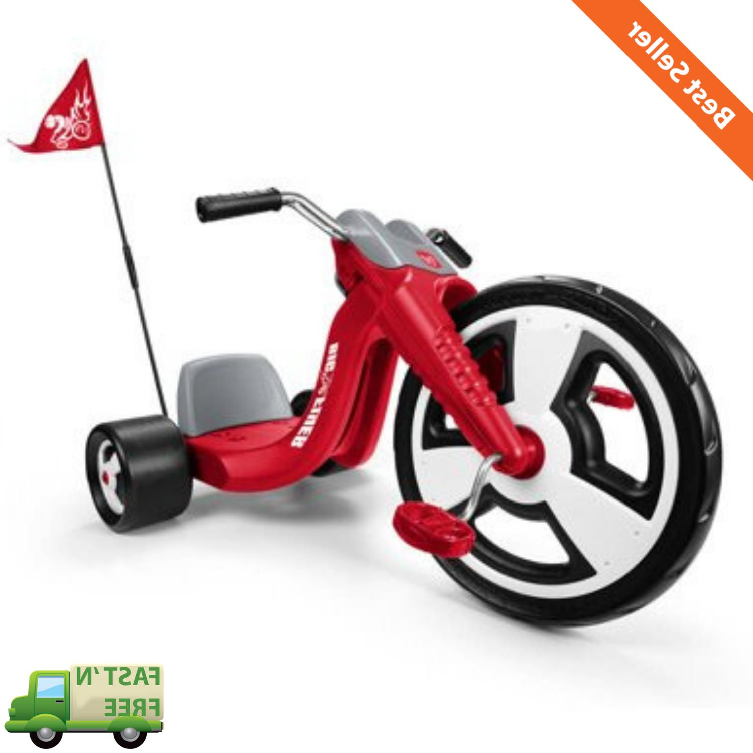 "16"" Front Wheel Kids Tricycle Safety Flag Adjustable Seat Ch"