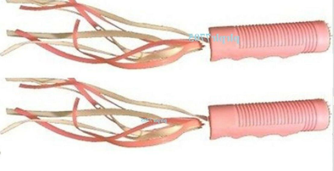 two pink trike handlebar grips w streamers