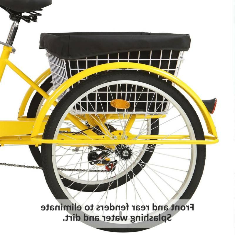 """20""""/24""""/26"""" Tricycle 3 Trike Bicycle With"""