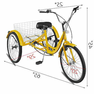 "20"" 1Speed Bicycle Trike w/ Basket"
