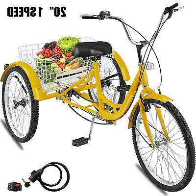 20 adult tricycle 3 wheel 1speed bicycle