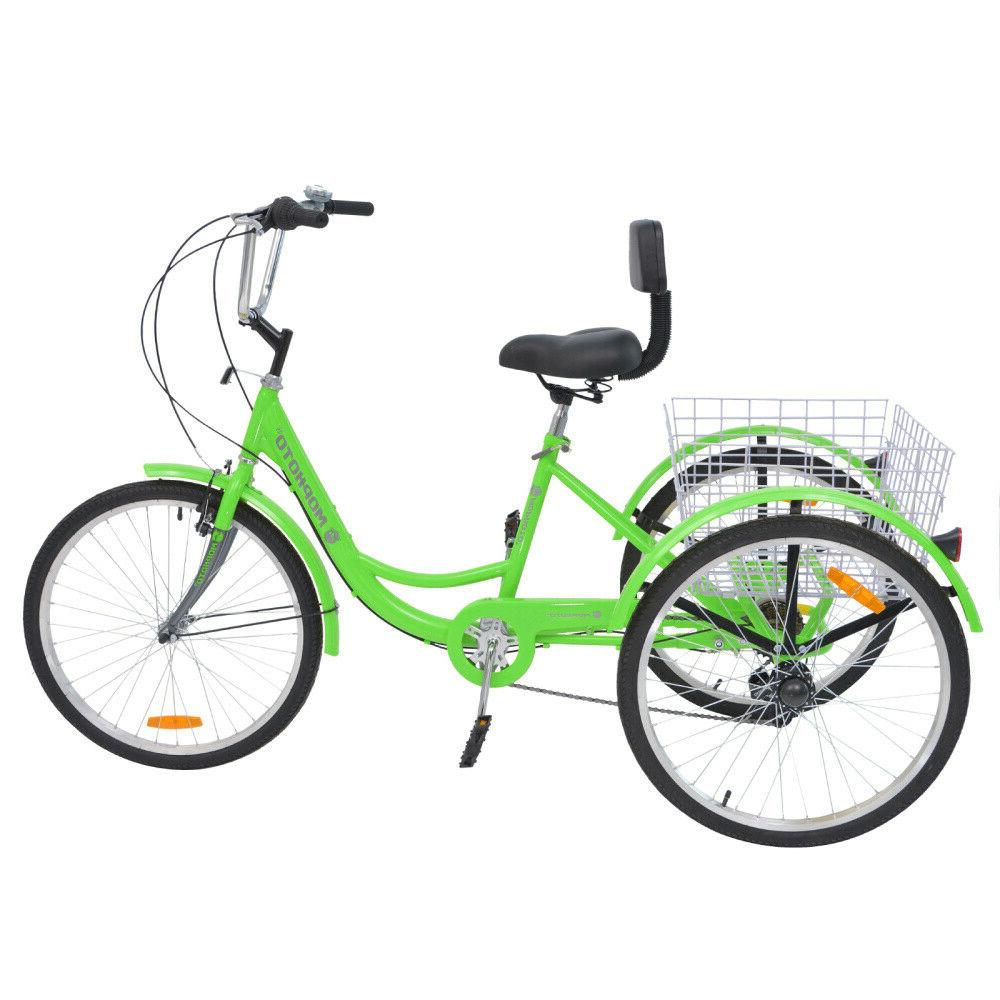 20''Foldable 14/24/26'' 7 3-Wheel Bicycle