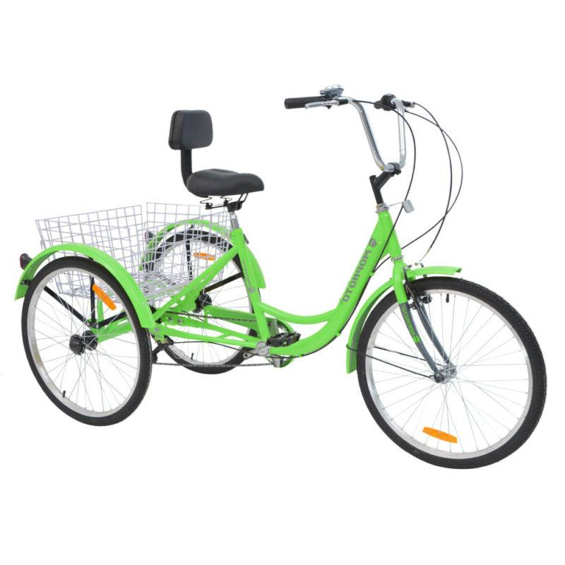 20'' 7 Speed 3-Wheel Adult Tricycle Bicycle