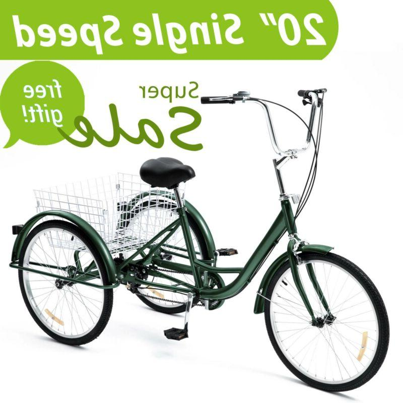 20 inch trike 1 speed adult tricycle