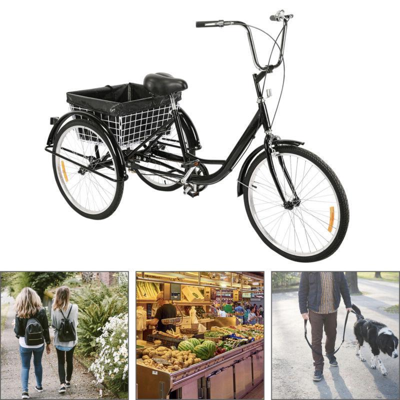 "24""/20"" 3-Wheel Trike for Shopping"