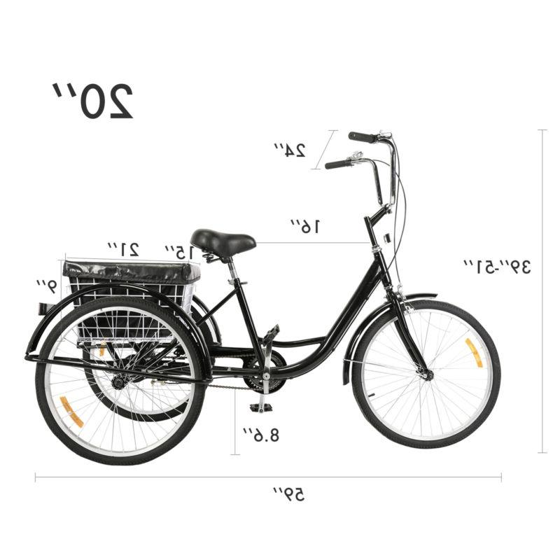 "24""/20"" Tricycle with Size Basket for"