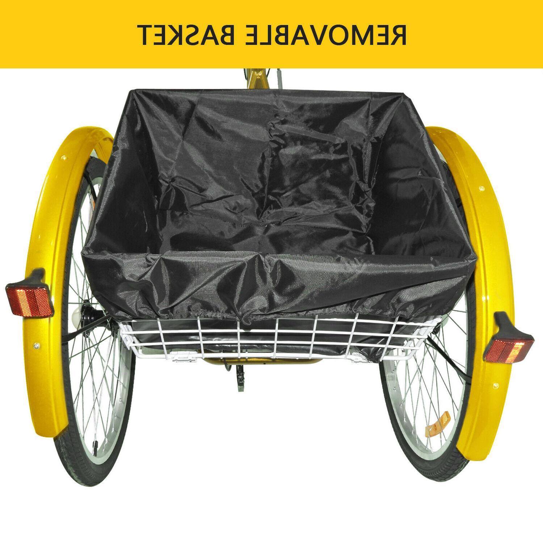 """24""""/ Tricycle 3 Wheels Trike Bicycle"""