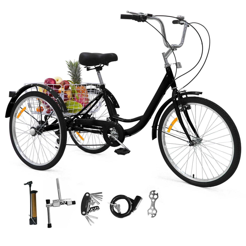 "24""/ 26"" Adult Tricycle Trike Bicycle"