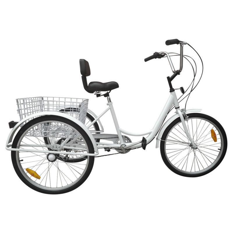 """24"""" 3-Wheel Trike Adult Elder Bicycle Shimano"""