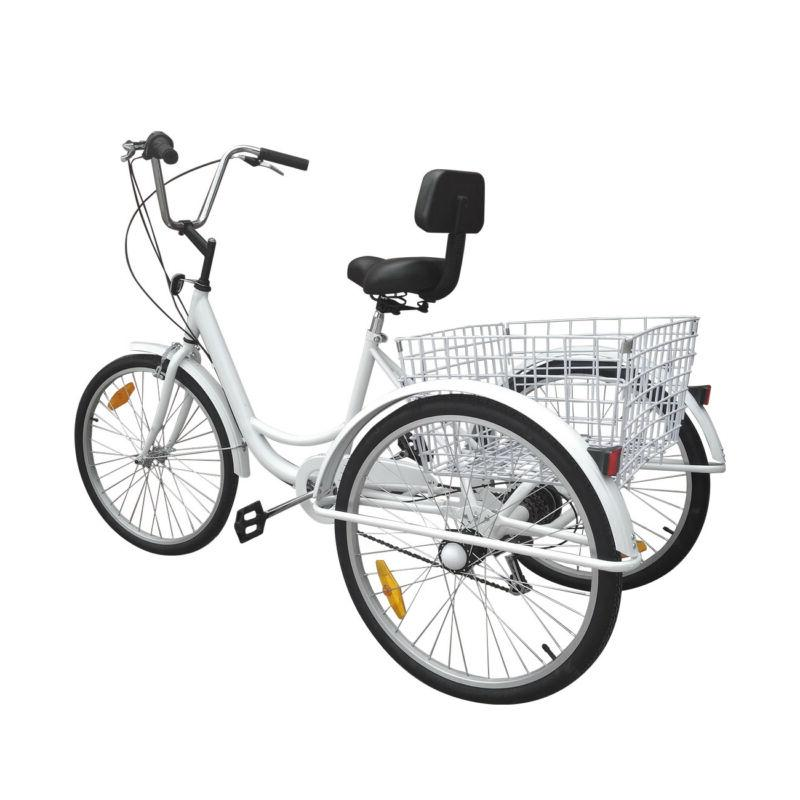 "24"" 3-Wheel Tricycle Trike Adult Shimano 6Speed"