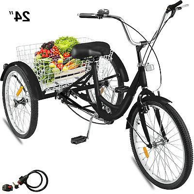 24 adult tricycle 3 wheel 1 speed