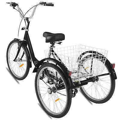 """20"""" Adult Tricycle 7 Speed Bicycle Cruiser Lock"""