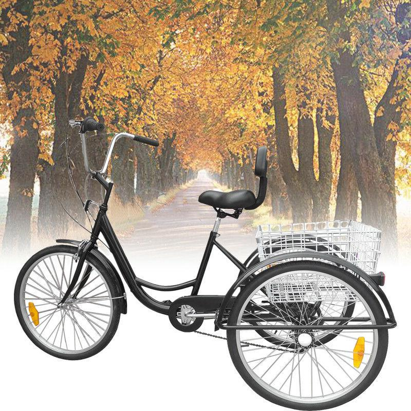 24 adult tricycle 3 wheel 6 speed