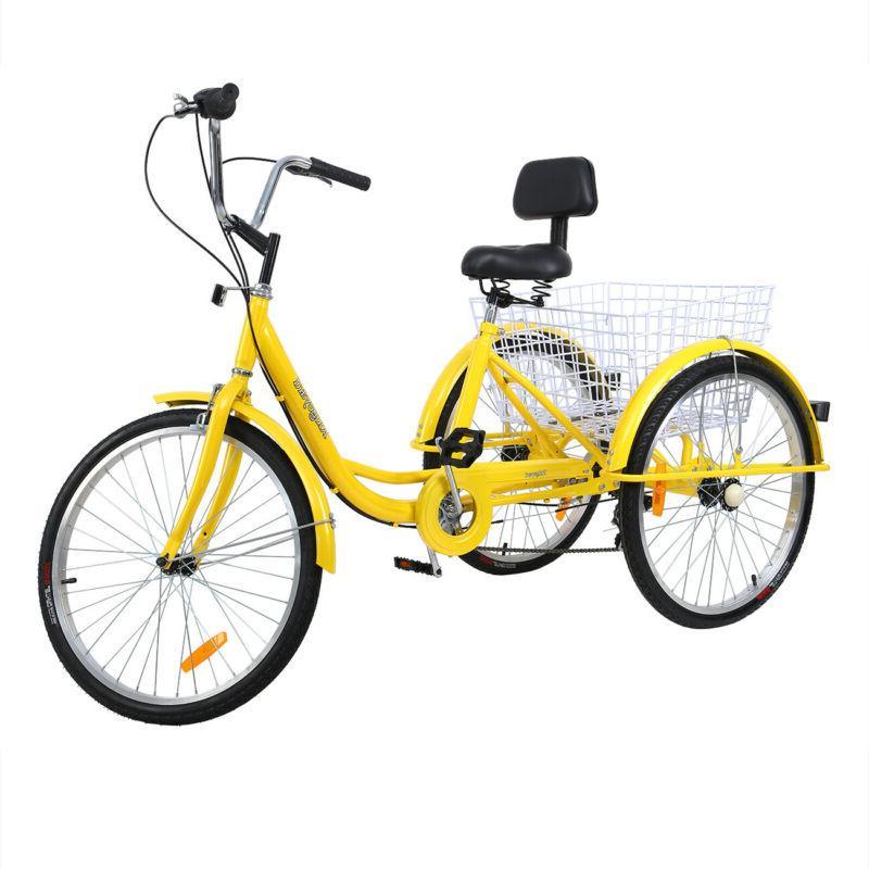 Unisex Adult Trike Bicycle Shimano 7-Speed Tricycle Basket