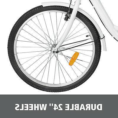 "Shimano 7-Speed 24"" 3-Wheel Tricycle Bicycle Bike"