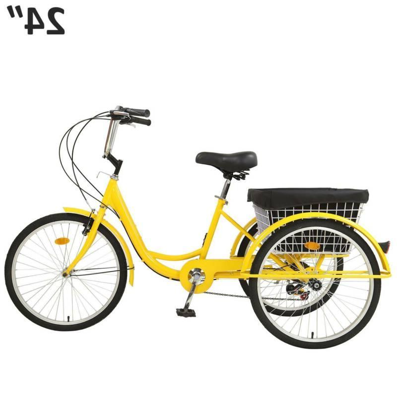 24 Inch Speed Bike w/Basket
