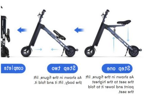 250W 3-wheels Folding Brushless Motor Trike for Tricycle5