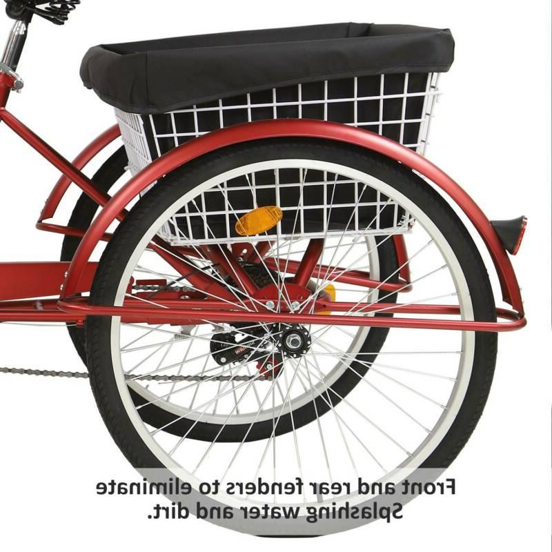 """26""""/24""""/20"""" Speed Trike Tricycle Bike w/Basket for NEW"""