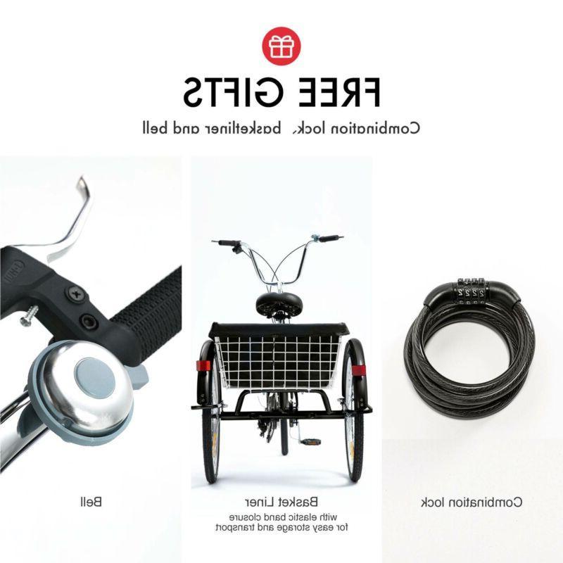 "26""/24""/20"" 8 Adult 3-Wheel w/Basket"